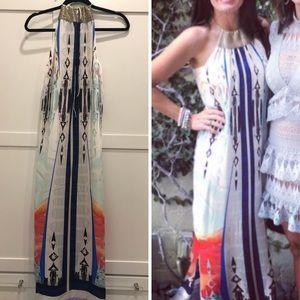 Dresses & Skirts - Silk maxi dress with neck detail